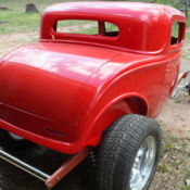 True nostalgic hot rod steel body 1932 ford 5 window for 1932 ford 3 window coupe fiberglass body