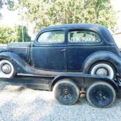 1936 ford flathead sedan 4 door hump back rat rod for 1936 ford 2 door slant back