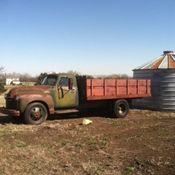 Red 1963 Chevy C65 truck with dump bed cool rat rod car