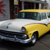 Super slick frame off restored 56 2 door ranch wagon for 1955 ford 2 door wagon