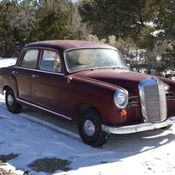 1958 mercedes benz 220s ponton with webasto roof for Mercedes benz 180d for sale