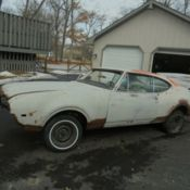 1972 Oldsmobile 442 Convertible Buckets Console A/C   Low