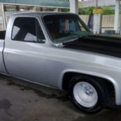 1986 Chevy C10 SWB Custom Silver Lowered C-notched Shaved Doors Roll Pan & custom 2 door chevy nova / shaved doors -hood  custom upholstery ... Pezcame.Com