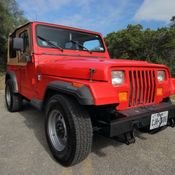 1988 jeep wrangler yj one owner custom 17k original miles for sale rh topclassiccarsforsale com Red Jeep YJ Jeep YJ On 36 S