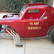 1937 Fiat Topolino Drag Altered Gasser With Title Big Block Roller