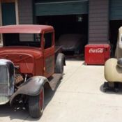 1940s Ford Flathead rat-rod, rusty steel, hot-rod project for sale