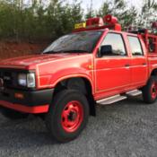 Nissan Datsun Pickup JDM RHD Right Hand Drive 4 Door 4wd 4x4 Fire Truck 1986
