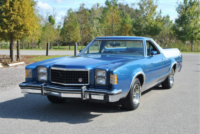 1977 Ford Ranchero 1 family owned 47000 miles.