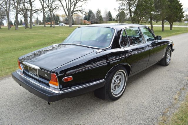 1986 Maraschino Black (non-metallic) Jaguar XJ6 - Series III Sedan with Mulberry leather (burgundy) interior