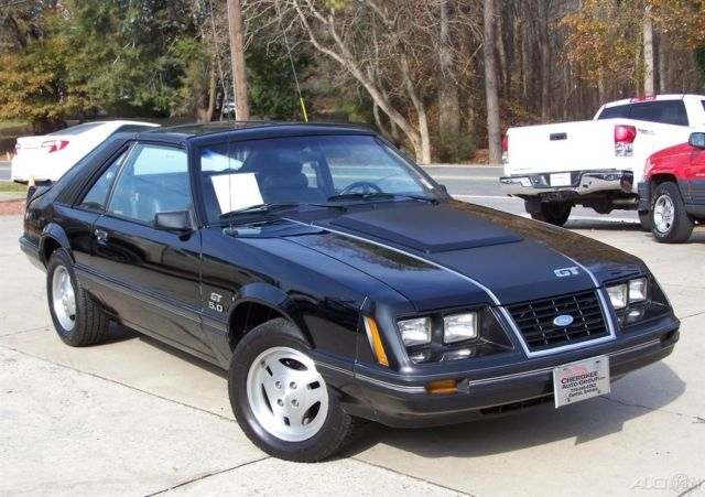 1983 Ford Mustang GT 5.0L 38k T-TOP BLACK LEATHER 4-SPD TRX'S MARTI REPORT