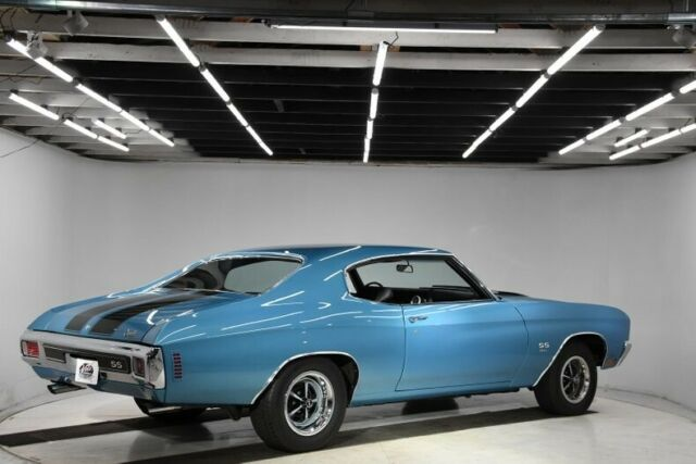 1970 Blue Chevrolet Chevelle SS Hardtop with Black interior