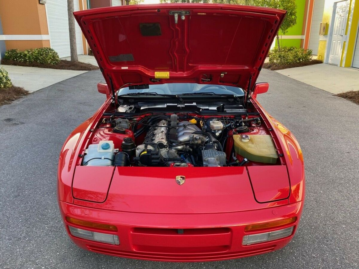 1989 Red Porsche 944 S2 Coupe with LINEN interior