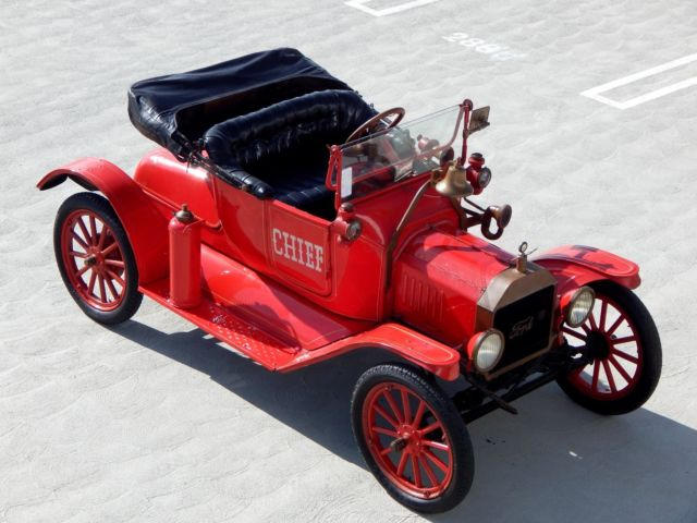 1915 Ford Model T Fire Chief Parade Car from Museum