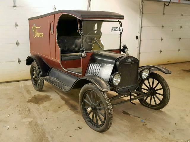 1921 Ford Model T C Cab Electric Start 0 Brown Black Pickup Truck 4