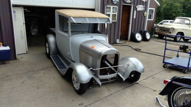 1928 primer & bare steel Ford Other Pickups Crew Cab Pickup