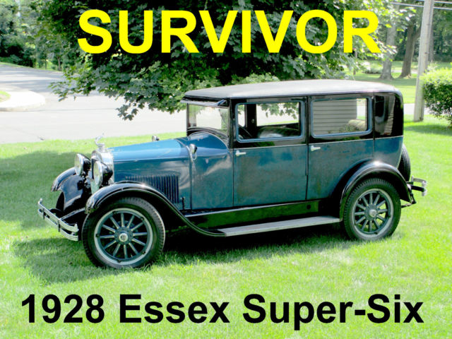 1928 Other Makes Essex Super-Six Sedan SURVIVOR