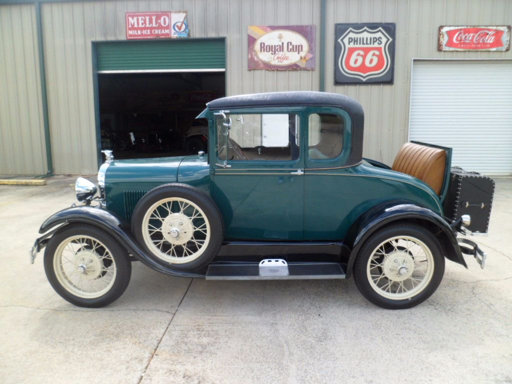 1928 Ford Model A Coupe Flathead 4 Cylinder Engine 3 Speed Manual Runs Great