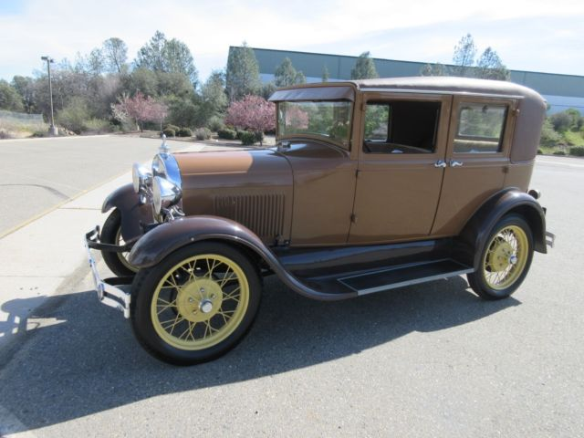 1928 Ford Model A Four Door Leatherback