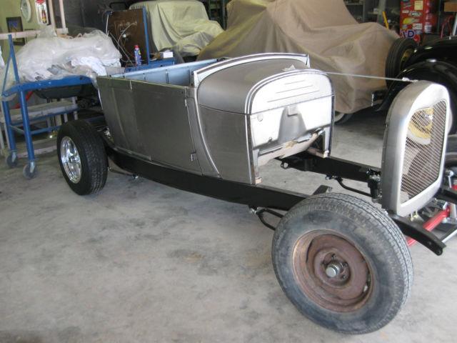1928 Model A Ford roadster pickup, Brookville steel body