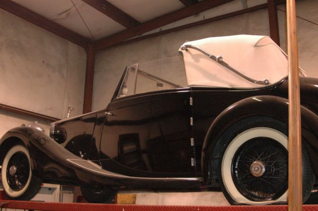 1928 Black Rolls-Royce Other Convertible with Beige interior
