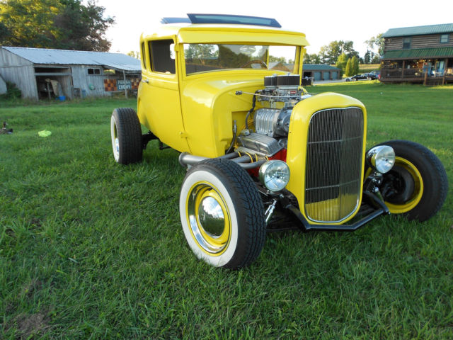 1929 ford model a 5 window coupe hot rod supercharged for for 1929 ford 5 window coupe