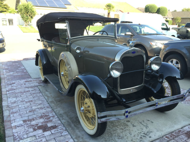 1929 Ford Model A Phaeton 5 Passenger 4 Door Convertible Body Off Restoration For