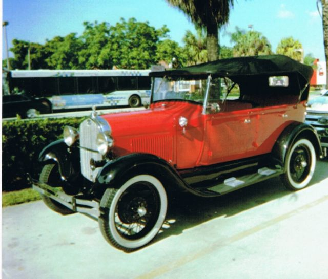 1929 Ford Model A Phaeton 4 Door Convertible Right Hand Drive