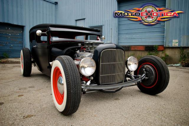 1929 ford model a sedan all steel hot rod tri power v8. Black Bedroom Furniture Sets. Home Design Ideas