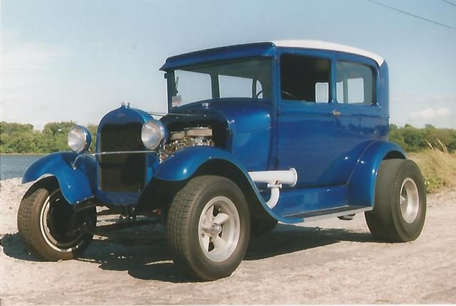 1929 Ford Model A Tudor Vintage Hot Rod Race Car Featured In Magazine