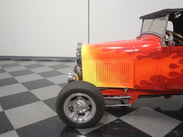 1929 Red Ford Roadster with Red interior