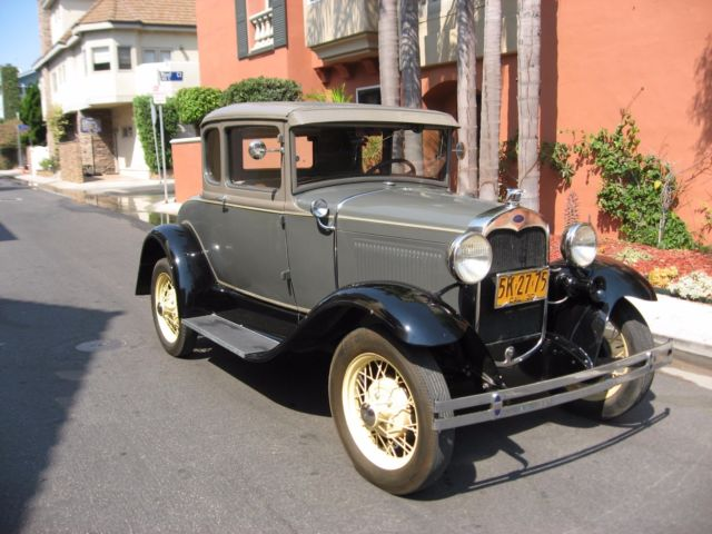 1930 Ford Model A 45B Coupe. California, Rust Free, Example
