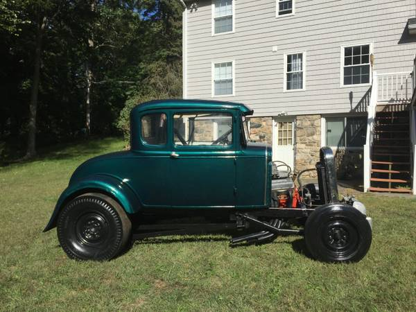 1930 Ford Model A Coupe Real 50 S Ger Hotrod Drag Car Race Straight Axle