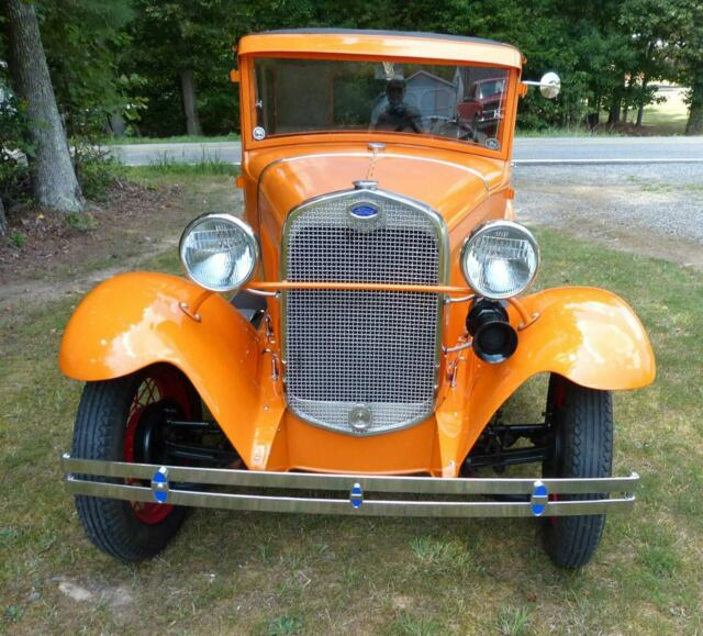 1930 Tangier Orange Ford Model A Coupe Coupe with Tan interior