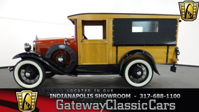 1930 Red Ford Model A Huckster with Black interior