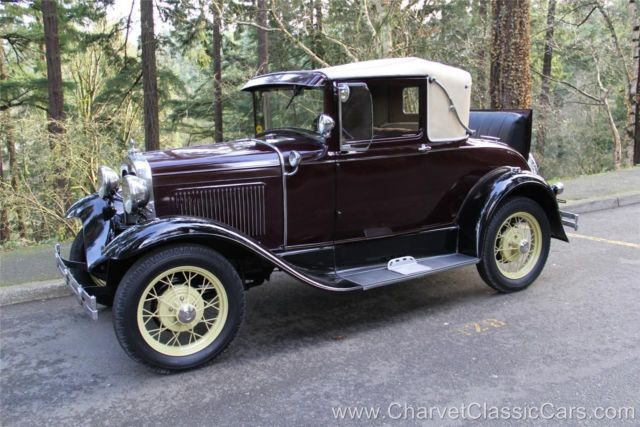 1930 Ford Model A Sport Coupe. Ready to Tour!