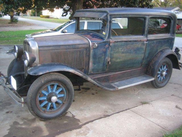 1930 Pontiac 2dr Sedan Model A Chevy Original Antique