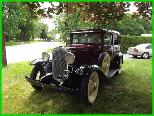 1931 Chevrolet Woody Used Inline 6 Four Door Sedan Rebuilt