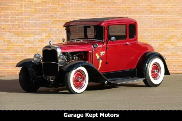 1931 Ford Coupe Maroon & Black Coupe 221ci Flathead V8 65761
