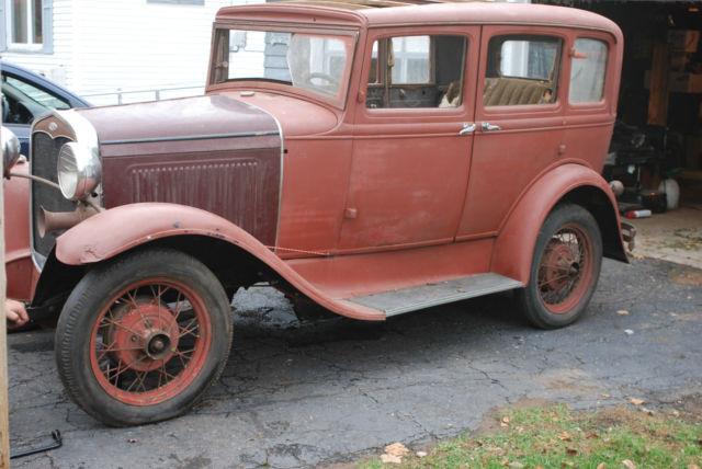 1931 ford model a 4 door sedan slant window rust free hot for 1931 ford model a 4 door