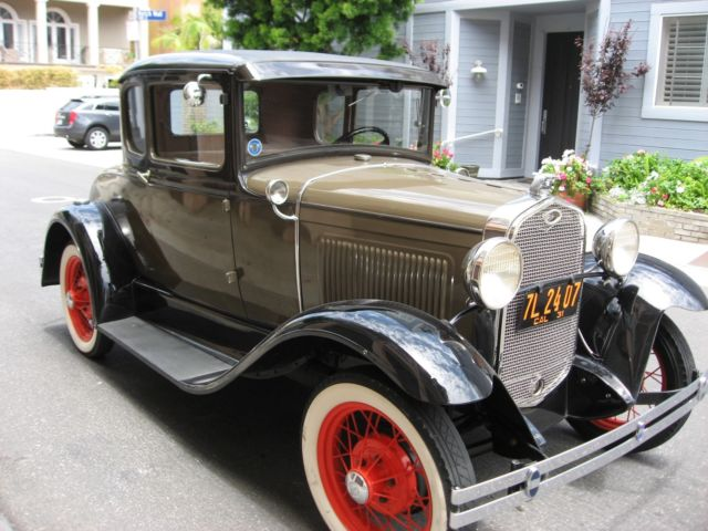 1931 Ford Model A Coupe Exceptional Calif. Ground Up Restored Exampl