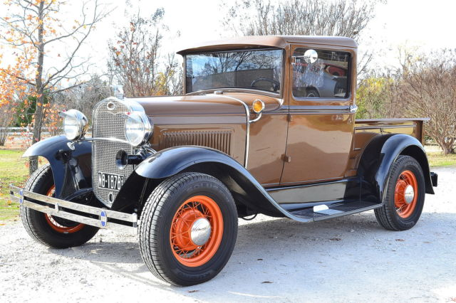 1931 Ford Model A Pickup Truck Red All Metal