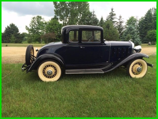 1932 Chevrolet Confederate Used Manual Coupe New Battery, Original