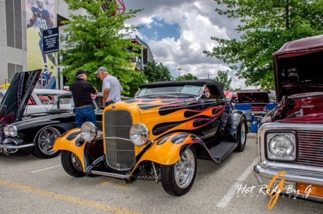 1932 Ford Brookville Roadster All Steel Custom Wade Hughes flames