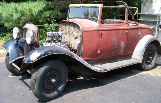 1932 Ford Cabriolet Convertible All Steel Hot Rod