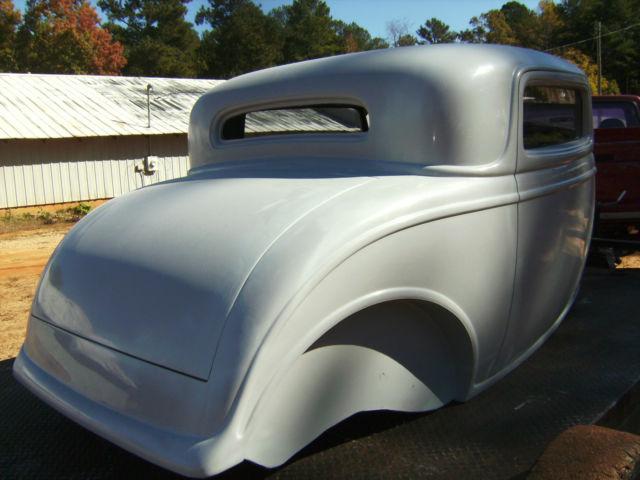 1932 ford new fiberglass body 2 5 inch chop rat hot rod for 1932 ford 5 window fiberglass body