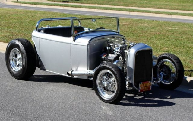 1932 Silver Ford Other Convertible with Black interior