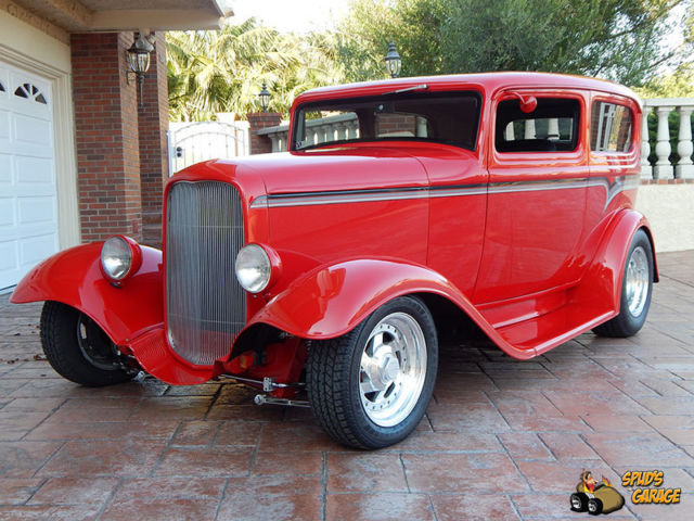"1932 Ford 2DR Tudor Sedan ""Red Hot"" Billet Era Hot Rod"