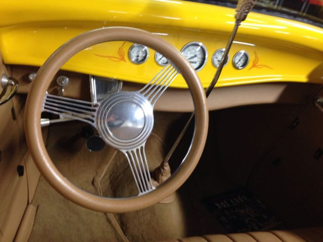 1933 Yellow Ford Other with Tan interior