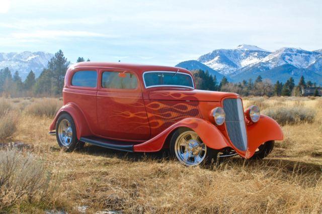 1933 All Steel Henry Ford Chopped 2 Door Sedan 351 Auto