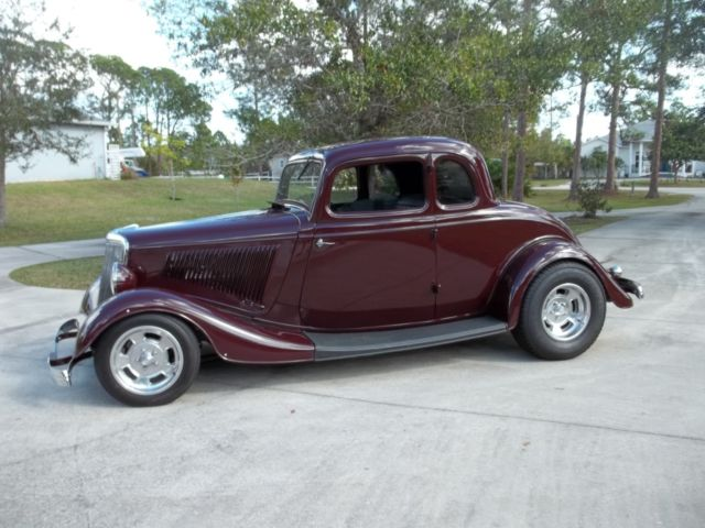 1933 Burgundy Ford Other Coupe with Black interior